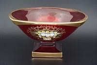 Фруктовница красная Bohemia Gold Magma 34 см