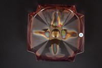 Фруктовница Bohemia Gold Metropolitan Розовая 33см