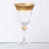 Набор бокалов для вина Bohemia Gold Zvonek Кристина 220мл (6 шт)