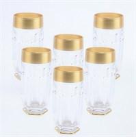 Набор стаканов высоких Bohemia Gold Safari матовая полоса (6 шт)