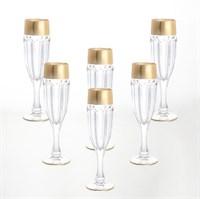 Набор фужеров для шампанского Bohemia Gold Safari Gold 150 мл