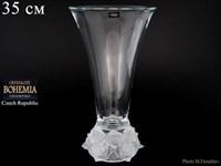 Ваза для цветов Crystalite Bohemia Frost 35 см