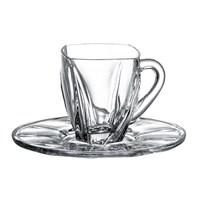 Набор чайных пар Crystalite Bohemia Neptune 160 мл(6 пар)