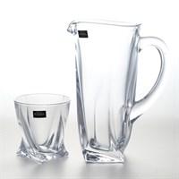 Набор для воды Crystalite Bohemia Quadro 7 предметов