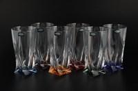Набор стаканов для воды Crystalite Bohemia Quadro Ассорти 350 мл(6 шт)