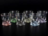Набор стопок для водки Crystalite Bohemia Quadro Ассорти 55 мл(6 шт)