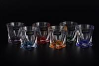 Набор стопок для водки Crystalite Bohemia Quadro Ассорти 55 мл (6 шт)