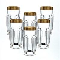 Набор стаканов для воды Crystalite Bohemia Safari Gold 300 мл