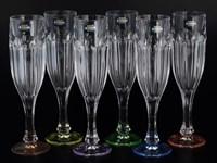 Набор фужеров для шампанского Crystalite Bohemia Сафари Ассорти 150 мл(6 шт)