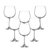 Набор бокалов для вина Crystalite Bohemia Milvus/Barbara 670 мл (6 шт)