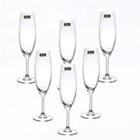 Набор бокалов для шампанского Crystalite Bohemia Milvus/Barbara 250 мл (6 шт)