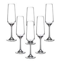 Набор бокалов для шампанского Crystalite Bohemia Strix/Dora 200 мл (6 шт)