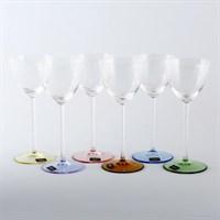Набор бокалов для вина Crystalite Bohemia Suzanne Арлекино 200мл (6 шт)