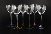 Набор бокалов для вина Crystalite Bohemia Suzanne Арлекино 260мл (6 шт)