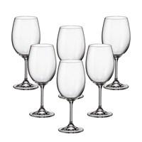 Набор бокалов для вина Crystalite Bohemia Sylvia/Klara 450 мл (6 шт)