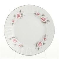 Набор тарелок Bernadotte Серая роза платина 19 см(6 шт)