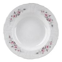 Набор тарелок глубоких Bernadotte Серая роза платина 23 см(6 шт)