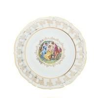 Блюдо круглое Queen's Crown Мадонна перламутр 30 см