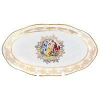 Блюдо овальное Queen's Crown Мадонна перламутр 25 см