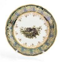 Набор тарелок Queen's Crown Охота зеленая 19 см