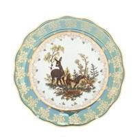 Набор тарелок Queen's Crown Корона Охота зеленая 25 см