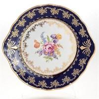 Тарелка для торта Thun Констанция Кобольт Полевой цветок 27см