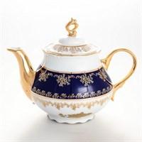 Чайник Thun Констанция Золотая роза кобальт 1,2мл
