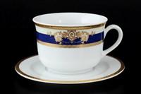 Набор чайных пар Thun Яна Кобальтовая лента 280мл (6 пар)