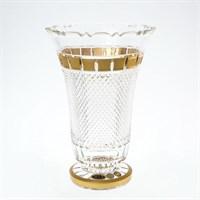 Ваза золото квадратики Bohemia Max Crystal 30 см