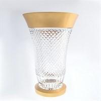 Ваза золото Филиция Bohemia Max Crystal 30 см