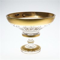 Конфетница на ножке Золото Bohemia Max Crystal 20 см
