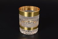 Набор стаканов для виски хрусталь с золотом Филиция Bohemia Max Crystal 320 мл(6 шт)