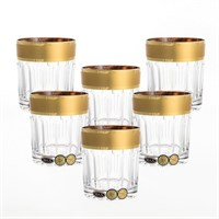 Набор стаканов для виски с золотом Bohemia Max Crystal 320 мл(6 шт)