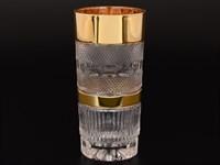 Набор стаканов для воды Bohemia Max Crystal Золото 350мл(6 шт)