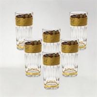 Набор стаканов для воды золото Bohemia Max Crystal 350 мл(6 шт)