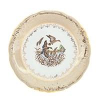 Блюдо круглое Sterne porcelan Охота Бежевая 30 см