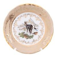 Тарелка Sterne porcelan Охота Бежевая 19см