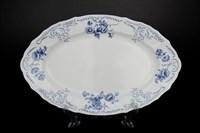 Блюдо овальное Bernadotte Синие розы 34 см