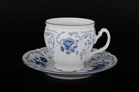 Набор чайных пар бочка Bernadotte Синие розы 240 мл(6 пар)