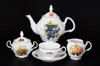 Чайный сервиз Bernadotte Фрукты 6 персон 17 предметов