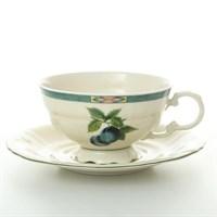 Набор чайных пар Leander Соната Фруктовый сад Слоновая кость 200 мл (6 пар)