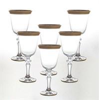 Набор бокалов для вина Crystalite Bohemia Матовая полоса Кристина 220мл (6 шт)