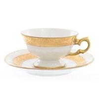 Набор мокко чайная пара Carlsbad Мария Луиза матовая полоса 100 мл