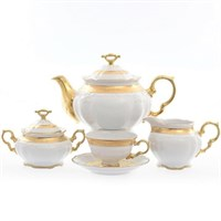 Чайный сервиз Carlsbad Мария Луиза матовая полоса 6 персон 17 предметов