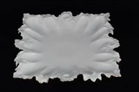 Блюдо фигурное квадратное Queen's Crown Белый узор 41 см