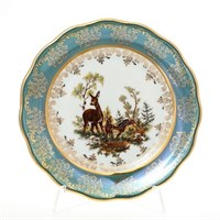 Набор тарелок Queen's Crown Охота зеленая 17 см