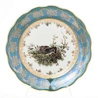 Набор тарелок Queen's Crown Охота зеленая 21 см