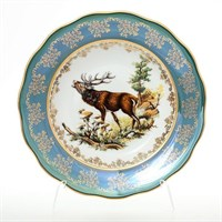 Набор тарелок глубоких Queen's Crown Охота зеленая 23 см