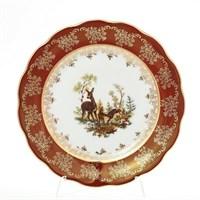 Набор тарелок Queen's Crown Охота красная 21 см