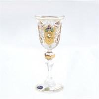 Набор рюмок для водки золото Sonne Crystal 60 мл(6 шт)